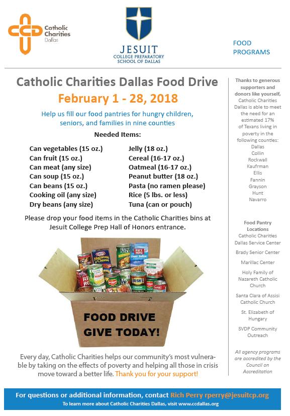 Catholic Charities Dallas Food Drive